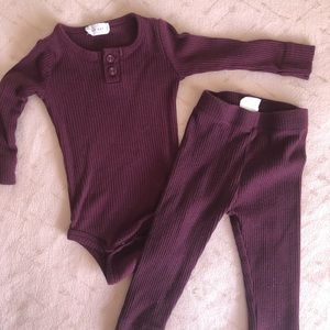 super cute matching baby outfit